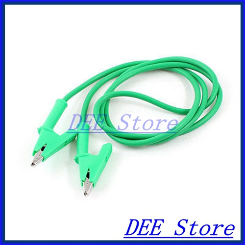 3.3ft Long Green Multimeter Power Supply Alligator Clip Test Lead Cable<br><br>Aliexpress