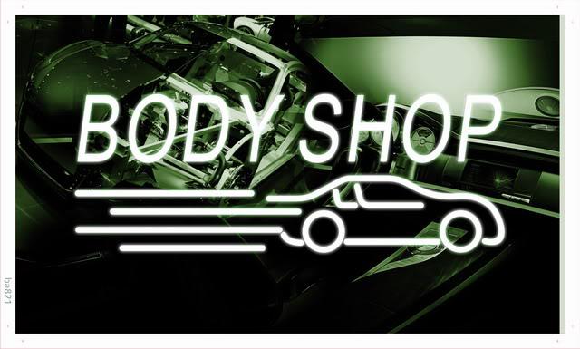 ba821 Body Shop Auto Car Display NEW Banner Shop Sign Wholesale Dropshipping(China (Mainland))