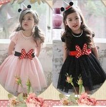 Buy Girls' Princess Dress Bright Color Puff Sleeve Cartoon BowKnot Fashion Style Party Gals' One-Piece Dress T72 for $11.99 in AliExpress store