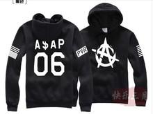 2014 ASAP ROCKY 06 Printed Men's Fleece Hoodies Men Hip Hop Basketball Hoodie Man Sports Sweatshirts Winter Clothing(China (Mainland))