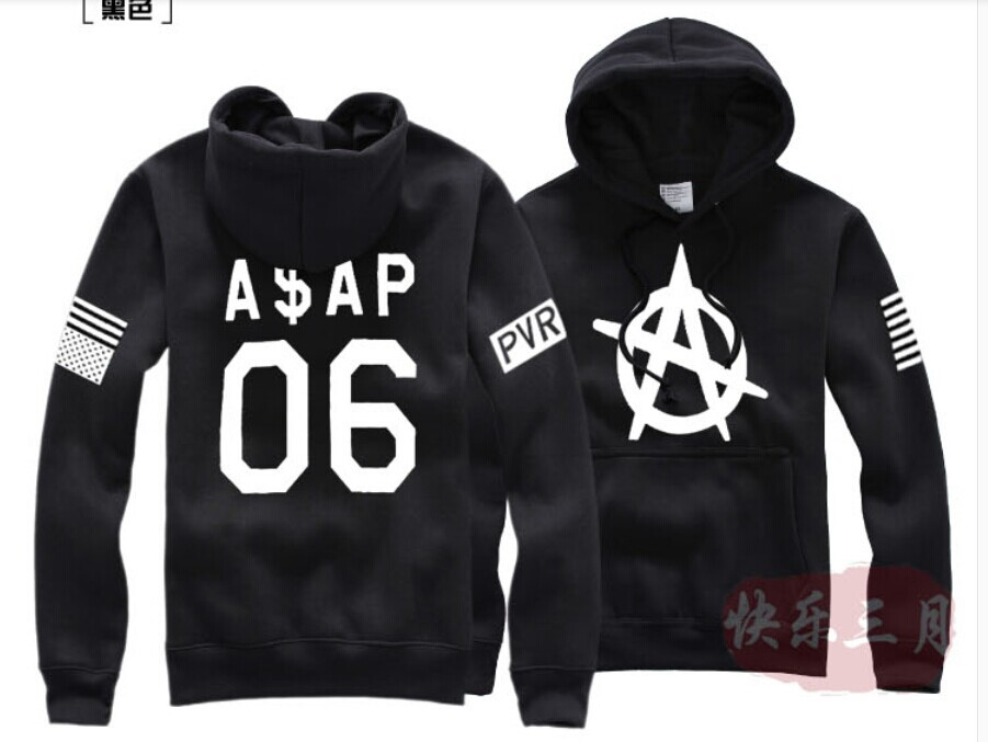 2014 ASAP ROCKY 06 Printed Men's Fleece Hoodies Men Hip Hop Basketball Hoodie Man Sports Sweatshirts Winter Clothing(China (Mainland))