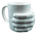 Free Shipping 1Piece 10oz Ceramic Hand Mug Hand In Hand Coffee Cup Novelty Gift