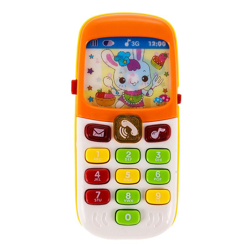 1Pcs Electronic Musical Toy Phone Mini Cute Kids Mobile Phone Cellphone Telephone Educational Toys K5BO(China (Mainland))