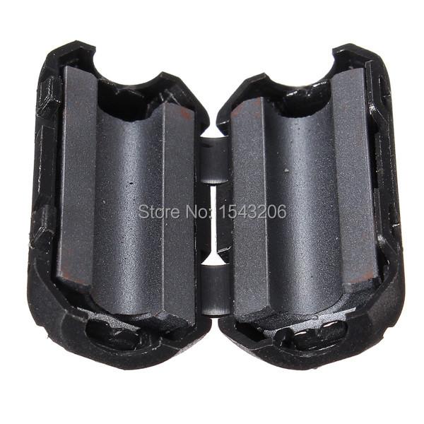 5 Pcs Black Plastic Clip On EMI RFI Noise Suppressor 5mm Cable Ferrite Core Filters Removable