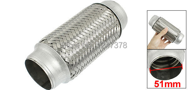 Fit Hole Diameter 51mm 2.00 inches Silver Tone Car Exhaust Pipe Silencer Muffler Tip 51mm x 165mm Discount 50(China (Mainland))