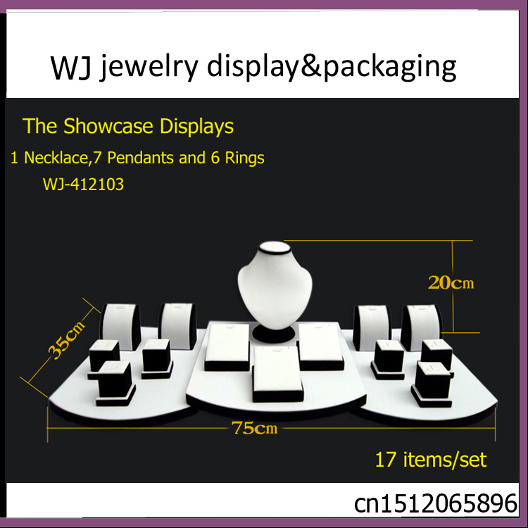 Championship Black&amp;White Wooden Jewelry Set Stand Showcase Pendant Necklace Colars Colliers Bijoux Display Mannequin Window Case<br><br>Aliexpress