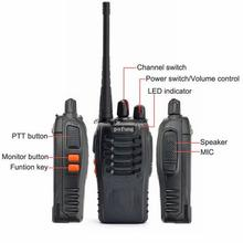 1set Handheld Walkie Talkie for Pofung BF-888S UHF 400-470 MHz Radio Two  2-way Amature Ham Radio 2015 New High Quality
