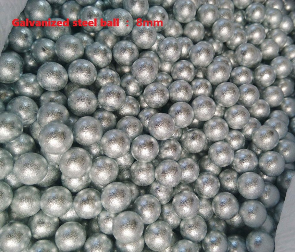 100pcs/lot (8mm) Galvanized steel ball Professional slingshot ammo outdoor Like silver bullet This is different, very cool(China (Mainland))