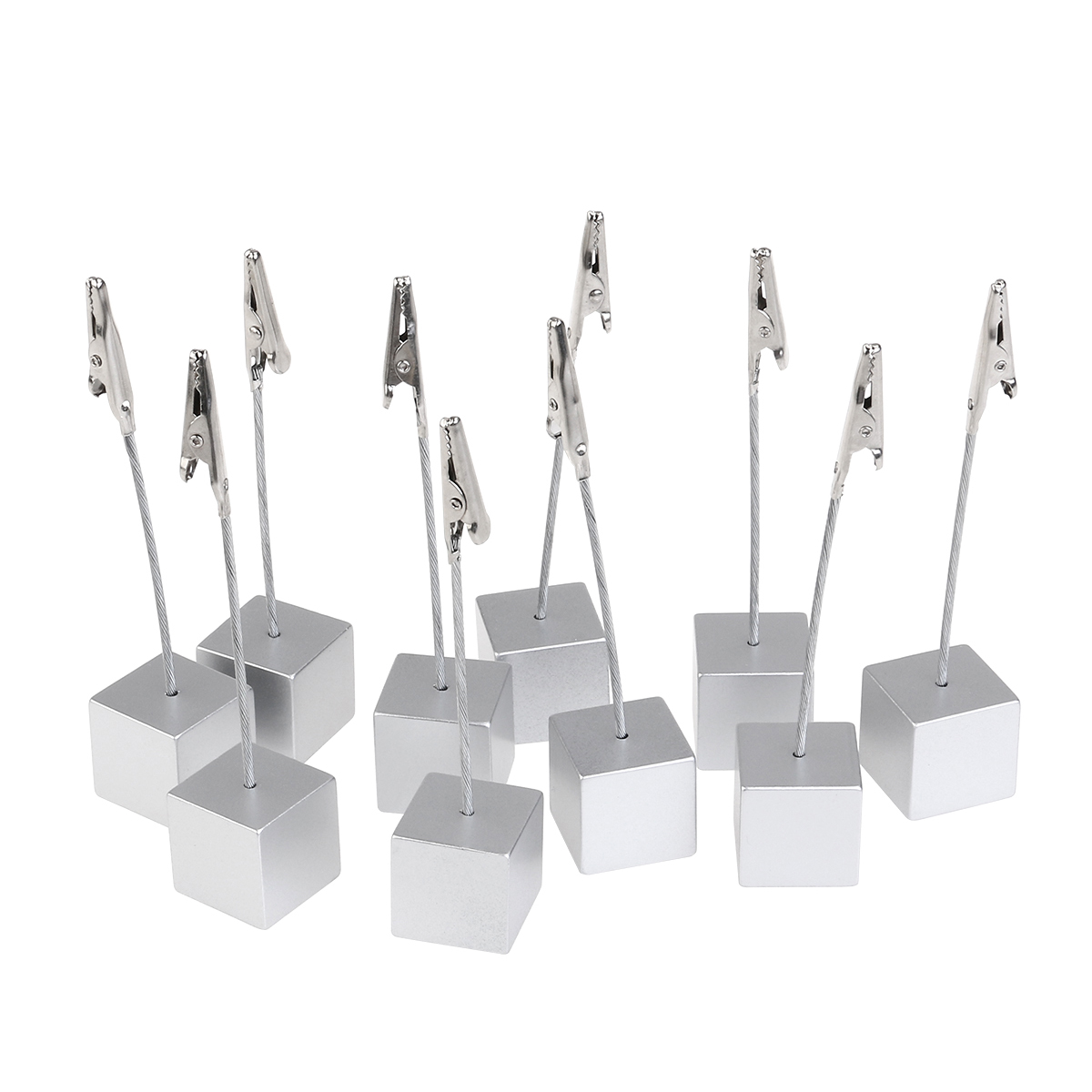 Easter 10pcs Cube Base Memo Photo Holder Card Paper Multifunctional Decoration Magnetic Table Card Holders(China (Mainland))