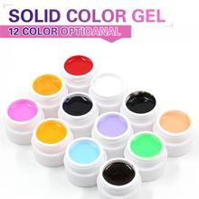 Hot Sales 1 Pcs retail 12 Colors Optional Uv nail Gel Solid color For Nail Art Decoration