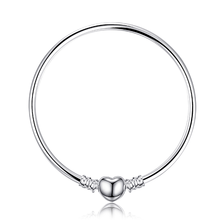 Jewelrypalace מקורי 925 סטרלינג כסף שרשרת צמיד צמידי נשים אהבת לב Fit חרוזים קסמי כסף 925 מקורי DIY(China)