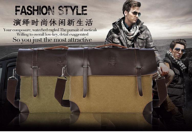 2015 NEW Fashion Men's Single Shoulde Canvas  Bag  Men's Vintage