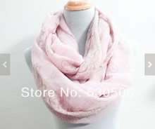Pink Paisley Infinity Scarf Chunky and Silky Paisley Scarf Infinity Scarf Loop Scarf