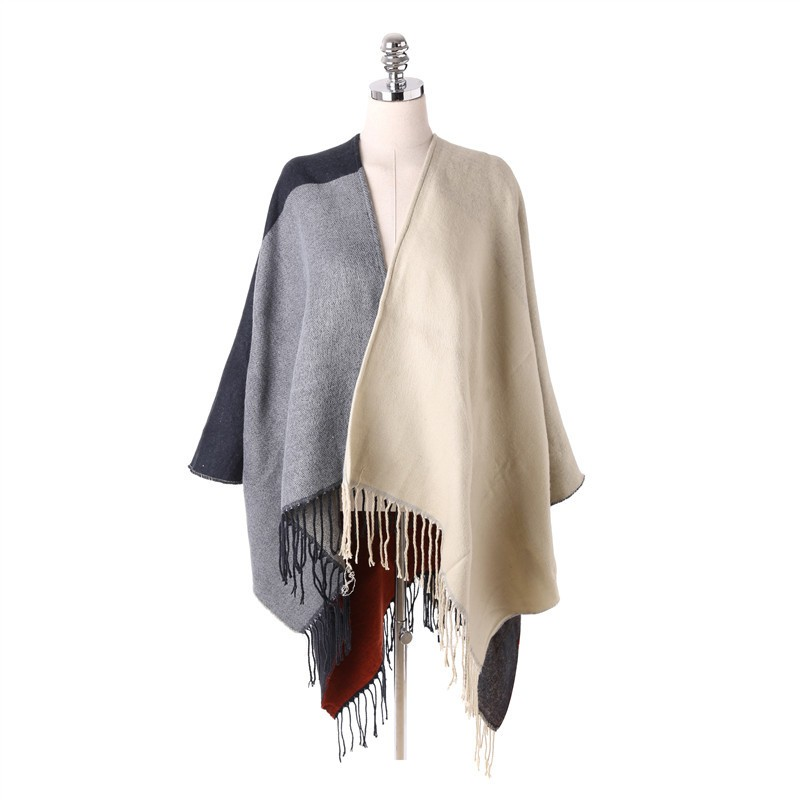 Tassel Shawl Long Infinity Scarf Luxury Brand Cashmere Poncho Winter Scarf Pashmina Women Ponchos and Capes