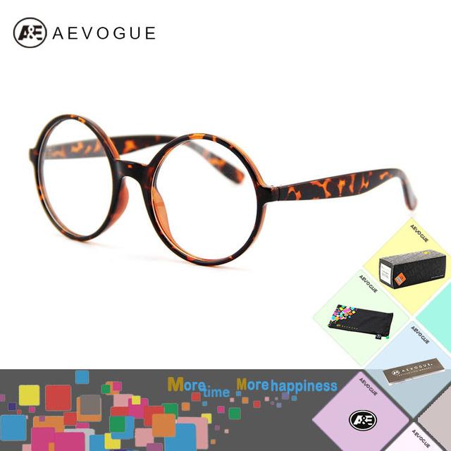 Aevogue солнечные очки женщины круг рама прозрачный линзы солнцезащитные очки мужчины AE0065
