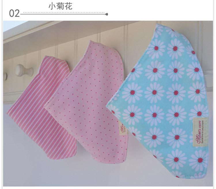 Free shipping baby bibs 3pc/lot 100% cotton bandana bibs baby clothing girls towel bandanas  baby clothing HK1012#(China (Mainland))