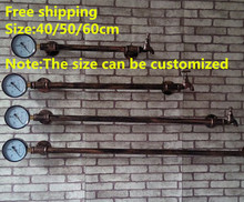40/50/60/Minimalist Modern Creative Clothing Rack Pipe Wall Hangers on the Wall, Wrought Iron Hanging Clothes Rack-Z13(China (Mainland))