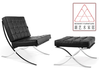 Prof. home sofa manufacturers are genuine European adult lounge chair Barcelona chair full leather recliner(China (Mainland))