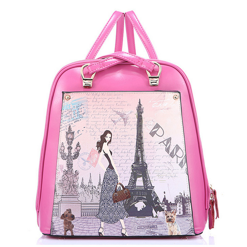 The new female bag 100% leather backpack women's leather bags Wind bag ladies fashion leisure quality package academy S171(China (Mainland))