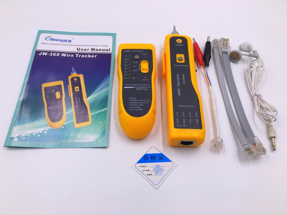 UTP STP Cat5 Cat6 RJ45 LAN Network Cable Tester Line Finder RJ11 Telephone Wire Tracker Tracer Diagnose Tone Network Tool Kit(China (Mainland))