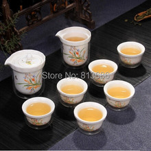 Heat Resistant Color Changing Glass Teapot Tea Cup Set