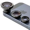 Universal 3 in 1 Wide Angle Macro Fisheye Fish Eye Lens for iPhone Magnetic Mobile Phone