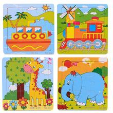 Обучающие 3d деревянные паззлы игрушки дети детские игры игрушка дерево головоломки для детей мультфильм обучения образование игрушки