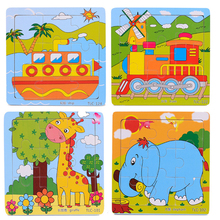 Educational 3d Wooden Jigsaw Puzzles Toys Free Kids Baby Games Toy Wood Puzzles For Children Cartoon Learning Education Toys(China (Mainland))