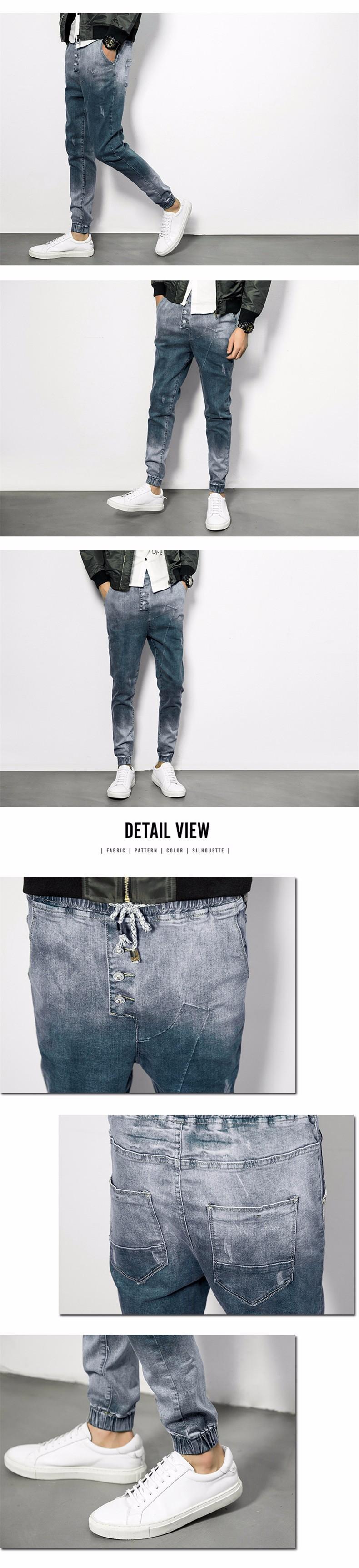 Скидки на Европейский Американский Стиль Мужчин Джинсы Гарем Брюки мужские Джинсовые брюки Хлопок 2016 Модный Бренд Джинсы Мужчин Плюс Размер M-4XL 5XL