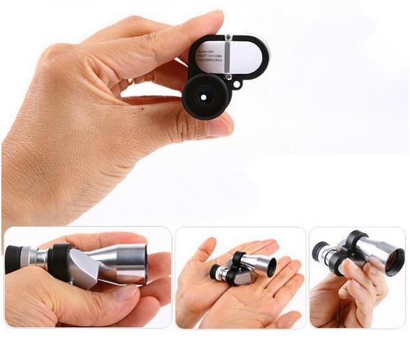 50 PCS/Lot  Mini Pocket  8X20 MM Monocular Adjustable Night Vision Telescope HD Microscope Eyepiece 96/1000m Scope Outdoor Tool<br><br>Aliexpress