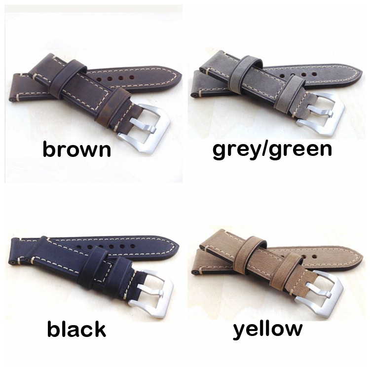 Hand made high Quality Fine Leather Watch Strap &amp;Band for P watch 20mm 22mm 24mm 26mm with stainless steel buckle<br><br>Aliexpress