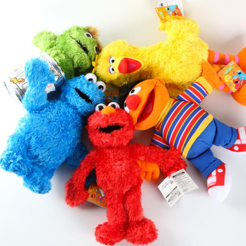 33cm Cute Sesame Street Plush Toys Elmo Big Vird Cokkie Monster Stuffed Dolls Toys For Children Birthday Gifts Party Presents(China (Mainland))
