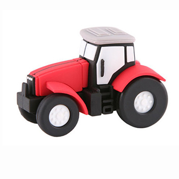 USB Cartoon Fancy Tractor Truck Shape Flash Drive Car Pendrive Memory Stick Disk Pen Drive 4GB 8GB 16GB 32G 64G Free shipping(China (Mainland))