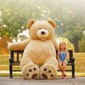 200CM 78 inch giant stuffed teddy bear soft big large huge brown plush stuffed soft kid