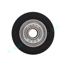 10pcs Big size Plastic wheel with ball Bearings Passive Round wheel Idler Pulley Gear perlin wheel For 3D Printer Accessories