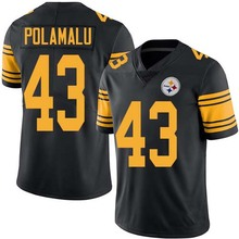 Men's #43 Troy Polamalu Elite Black Rush Jersey 100% Stitched(China (Mainland))