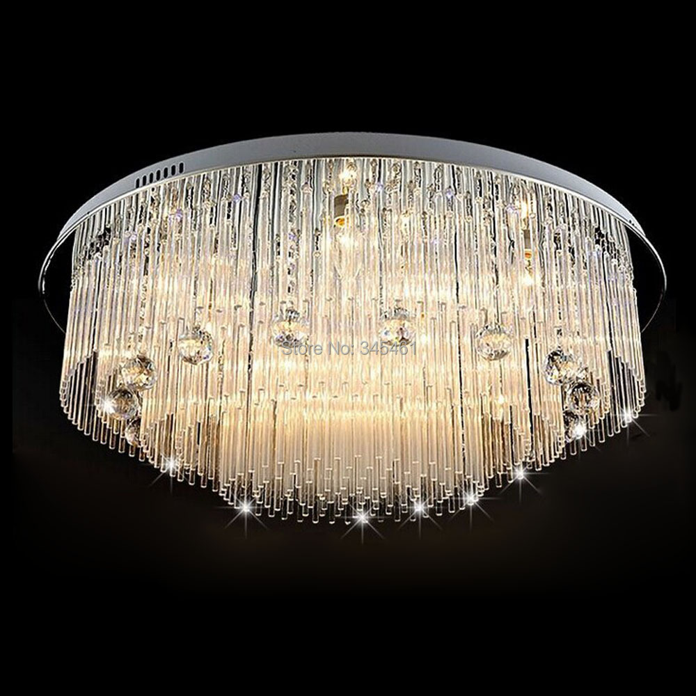 With Remote Switch Crystal Ceiling Lights Luxurious Feelings Romantic Glass Rod + Crystal Ball Round Ceiling Lamp Bedroom Lights<br><br>Aliexpress