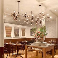 5,10,15,21 head dining room decoration LED modo Chandelier living room dha lights glass globe light AC90-265V free shipping(China (Mainland))