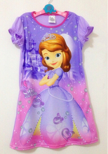 hot sale Sofia Princess girl's Nightgown, Cartoon night dress, kids pajamas, children girls sleepwear nightgown girl nightdress