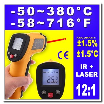 High quality High Quality Non-Contact IR Laser Point Infrared Digital Thermometer Temp Gun, Dropshipping