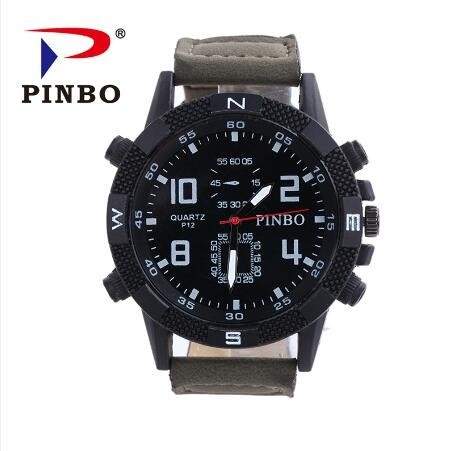 New-PINBO-Brand-Men-Big-Dial-Casual-Quartz-Watch-Men-Fabric-Mixed-color-Leather-Strap-Military (1)