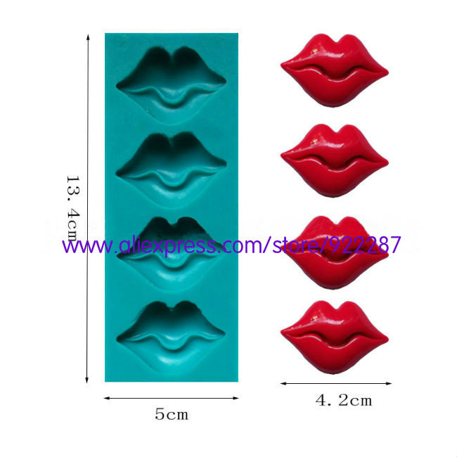 Sexy mouth silicon molds cake decorating cupcake decorations forma de bolo cooking tools free shipping(China (Mainland))