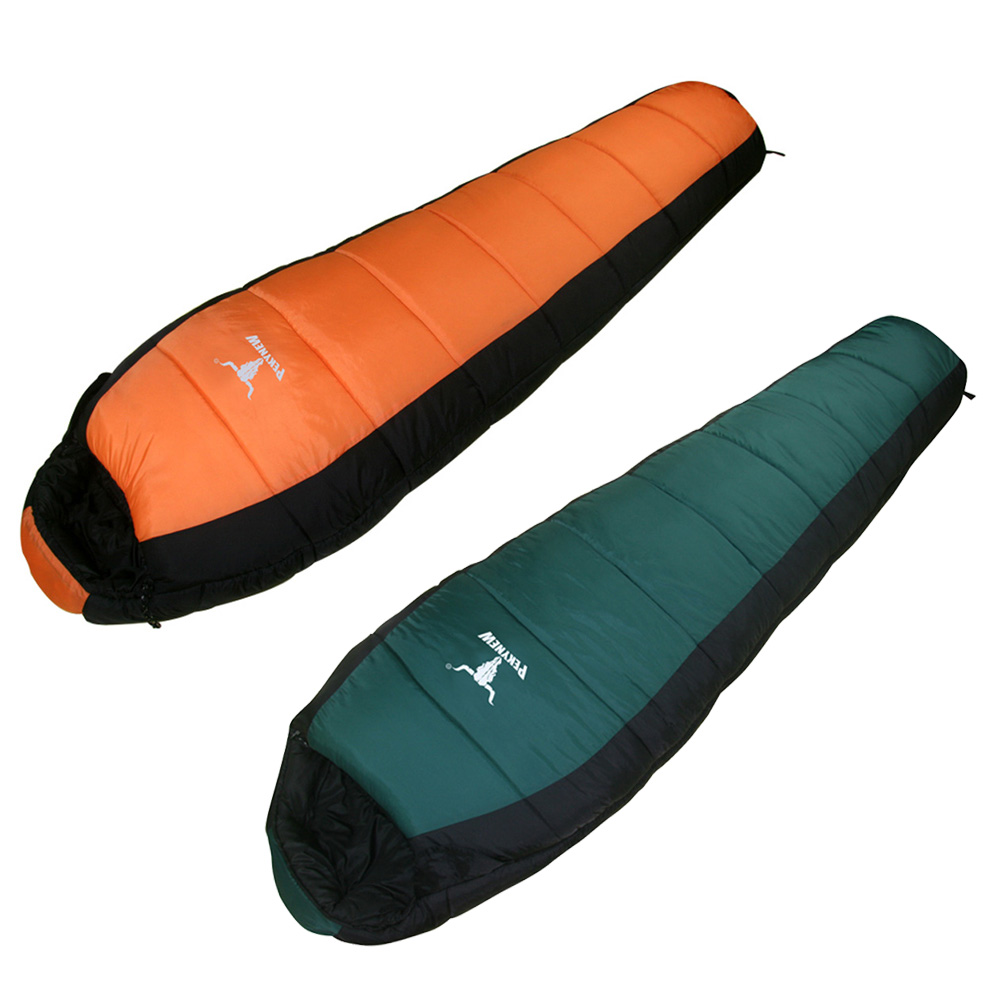Outdoor Camping Hiking Travel Sleeping Bag+Carry Bag Water Resistance High Quality Mummy Style Double Layers Adult Sleeping Bag