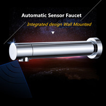 Buy Chrome Brass Battery Power Integrated type Automatic Sensor Tap Bathroom Wash Basin Touchless infrared Faucet for $119.90 in AliExpress store