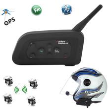 1200 m v4 bt multi interphone di bluetooth intercom fm impermeabile moto cuffia auricolare casco communicator 4 riders(China (Mainland))