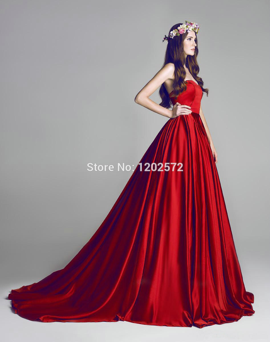 Red Winter Ball Gown