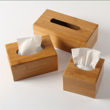 Rustic bamboo tissue box cover wood drawer Quality home decoration vintage Creative napkin holder for paper towels(China (Mainland))