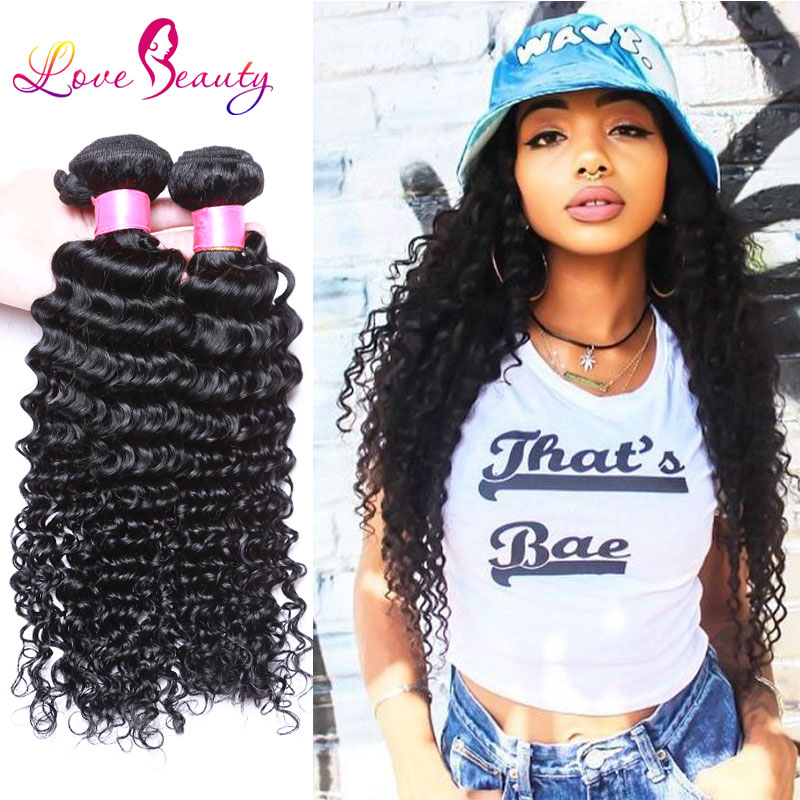 US Domestic Delivery Indian Virgin Hair Deep Curly 4pcs/lot Nice Texture Ms Lumina Human Hair Extensions Msbeauty Hair Products(China (Mainland))