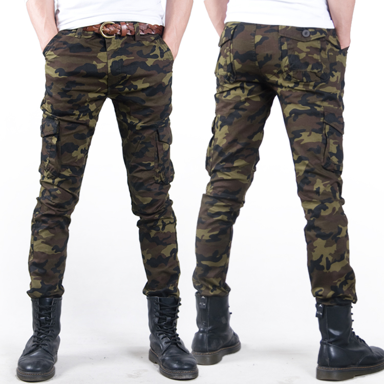 free shipping  Casual Military  men pants  2014 Camouflage Men Slim Elastic Outdoor Overalls Army Skinny Pencil pantsОдежда и ак�е��уары<br><br><br>Aliexpress