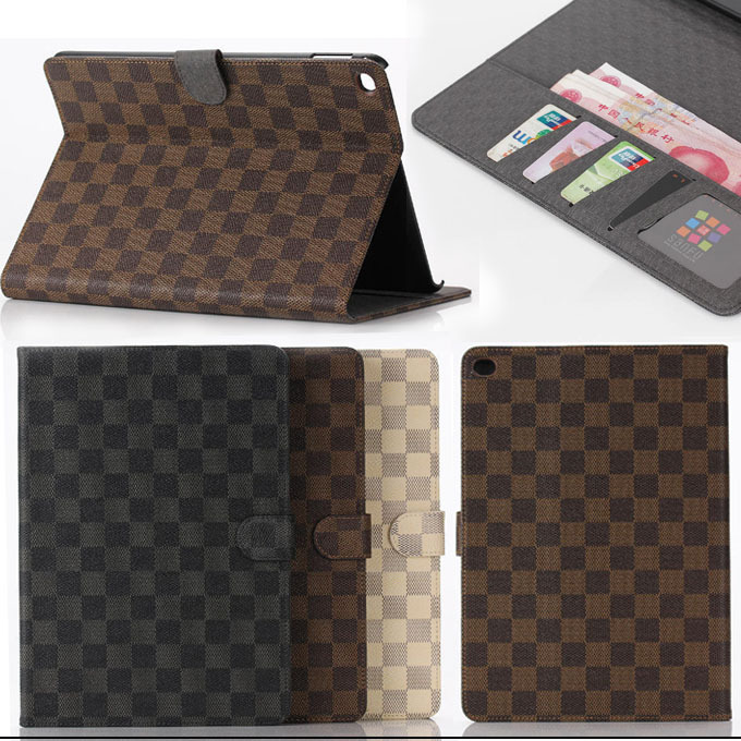 For apple ipad air 2 case plaid design business pu leather for apple ipad air 2 case plaid design business pu leather protective skin for ipad 6 reheart Image collections